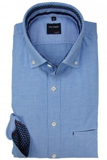 OLYMP Casual modern fit Hemd Button-Down Oxford bleu