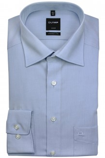 OLYMP Luxor modern fit Hemd 72er-Arm New Kent Chambray bleu