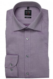 OLYMP Level Five body fit Hemd Under Button-Down Natté aubergine