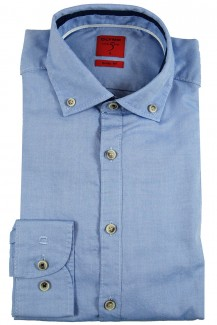OLYMP Level Five Casual body fit Hemd Button-Down Pin Point blau