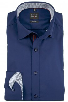 OLYMP Level Five body fit Hemd Under Button-Down marine