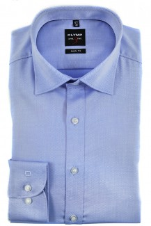 OLYMP Level Five body fit Hemd Under Button-Down Natté bleu