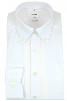 OLYMP Luxor comfort fit Hemd Button-Down weiß