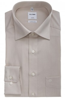 OLYMP Luxor comfort fit Hemd New Kent Chambray hellbeige