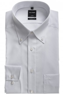 OLYMP Luxor modern fit Hemd Button-Down weiß
