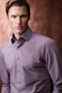 OLYMP Luxor modern fit Hemd Under Button-Down Ringe aubergine