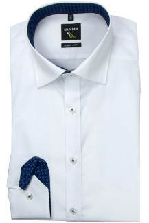 OLYMP No. Six super slim Hemd Under Button-Down Patch blau