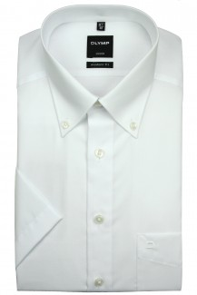 OLYMP Luxor modern fit Kurzarm Hemd Button-Down weiß