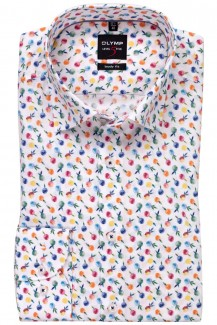 OLYMP Level Five body fit Hemd Under Button-Down Apfel Design mandarin-gelb