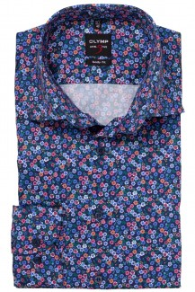 OLYMP Level Five body fit Hemd Under Button-Down Floraler Print bunt