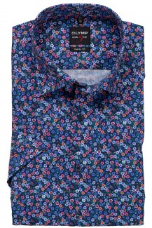 OLYMP Level Five body fit Kurzarm Hemd Under Button-Down Floraler Print bunt