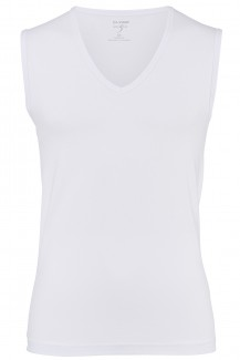 OLYMP Level Five body fit Tank Top V-Ausschnitt weiß