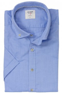 OLYMP Level Five Casual body fit Kurzarm Hemd Button-Down bleu