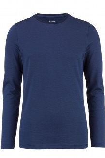 OLYMP Level Five Langarm-Shirt body fit Rundhals Jacquard marine