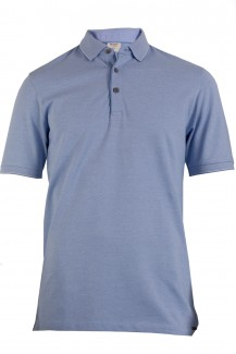 OLYMP Level Five Polo body fit Pique mit Rollkante blau