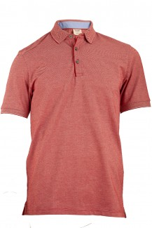 OLYMP Level Five Polo body fit Pique mit Rollkante rot