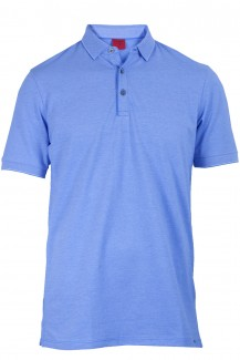 OLYMP Level Five Polo body fit Pique Rollkante himmelblau