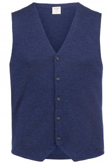 OLYMP Level Five Strick body fit Gilet jeansblau