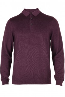 OLYMP Level Five Strick body fit Polokragen chianti