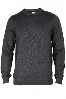 OLYMP Level Five Strick body fit Pullover Rundhals fast dyed anthrazit