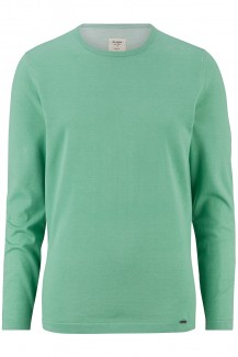 OLYMP Level Five Strick body fit Pullover Rundhals Plated mint
