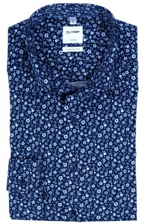 OLYMP Luxor comfort fit Hemd Under Button-Down Blütezeit marine-sky