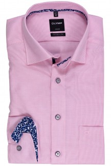 OLYMP Luxor modern fit Hemd Under Button-Down Fantasy Patch rose