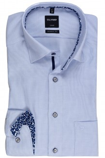 OLYMP Luxor modern fit Hemd Under Button-Down Fantasy Patch sky
