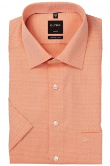 OLYMP Luxor modern fit Kurzarm Hemd New Kent Struktur orange