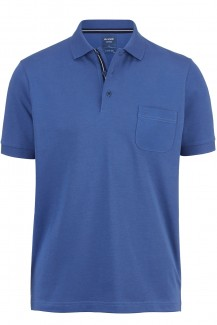 OLYMP Polo modern fit Jersey Funktion blau