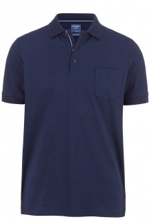 OLYMP Polo modern fit Jersey Funktion marine