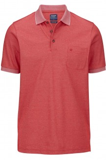 OLYMP Polo modern fit Jersey Funktion rot