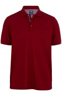 OLYMP Polo modern fit Pique Premium dunkelrot