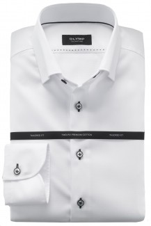 OLYMP Signature tailored fit Hemd Under Button-Down Struktur weiß
