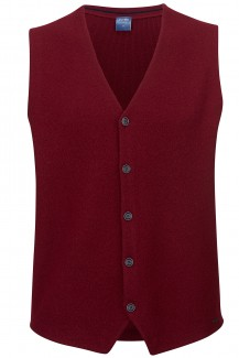 OLYMP Strick modern fit Gilet in weinrot