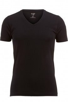 OLYMP T-Shirt Level Five body fit V-Ausschnitt schwarz