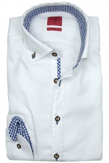 OLYMP Trachtenhemd Level Five Casual Button-Down weiß