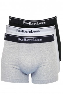 Polo Ralph Lauren - Pouch Trunk 3er Pack white-black-heather