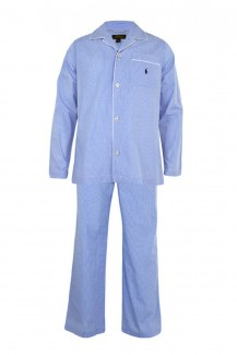 Polo Ralph Lauren - Pyjama Set Long Light Blue Mini Gingham