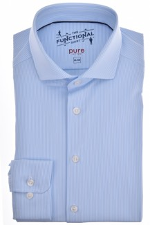 Pure Functional Shirt slim fit Haifisch Fineliner bleu-air