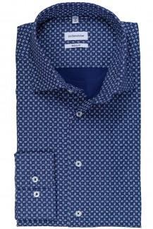 Seidensticker Hemd comfort fit Light Kent Mini Paisley in marine-weiß