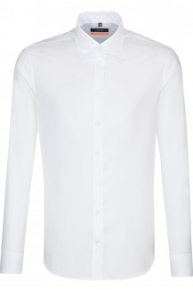 Seidensticker Hemd extra langer Arm slim fit Under Button-Down Natte weiß