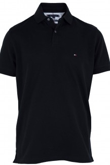 Tommy Hilfiger Polo regular fit Pique schwarz