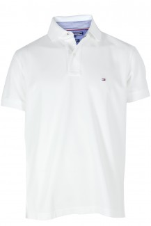 Tommy Hilfiger Polo regular fit Pique weiß