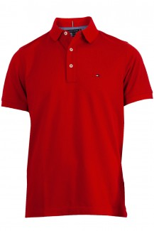 Tommy Hilfiger Polo slim fit Pique in rot