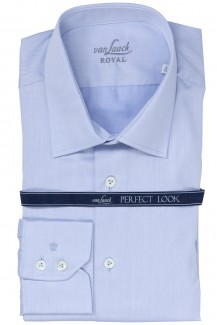 Van Laack Royal Hemd tailor fit Ret Twill bleu