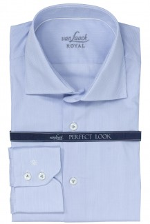 Van Laack Royal Hemd tailor fit Rivara Fineliner bleu-weiß