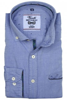Venti Casual Hemd slim fit Button-Down blau