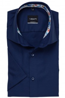 Venti Kurzarm Hemd modern fit Kent Holiday Patch marine