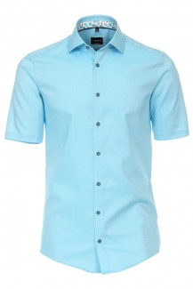 Venti Kurzarm Hemd modern fit Kent Holiday Patch türkis